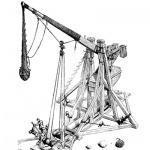 Le grand trébuchet (bride, biffa, brede, trabuc) - fin XIIe au XVIIe siècle
