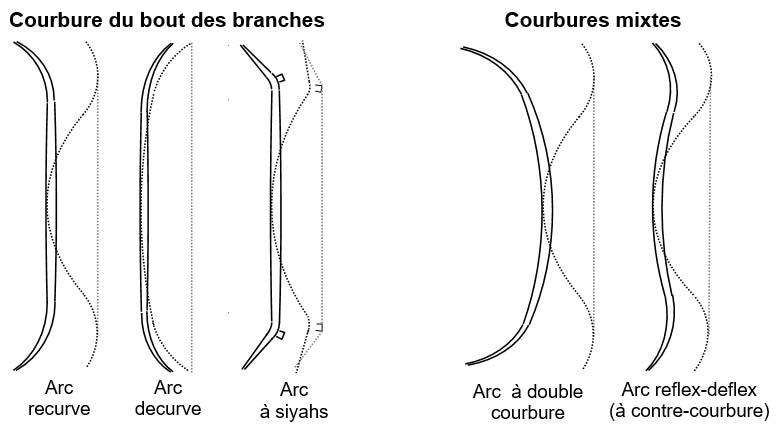 terminologie arcs traditionnels